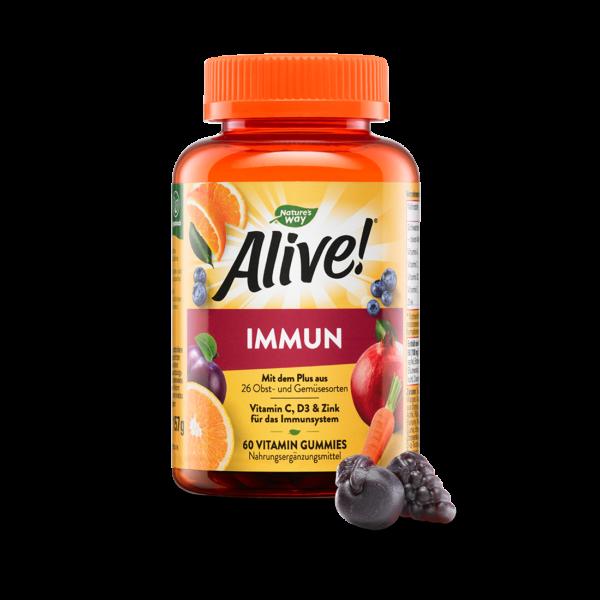 Alive! Immun Vitamin Gummies für Erwachsene