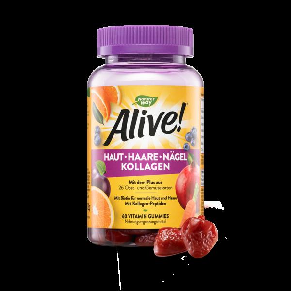 Alive! Haut Haare Nägel Vitamin Gummies