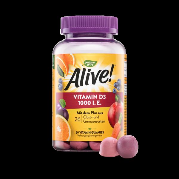 Alive! Vitamin D3 1000 IE + Calcium Gummies