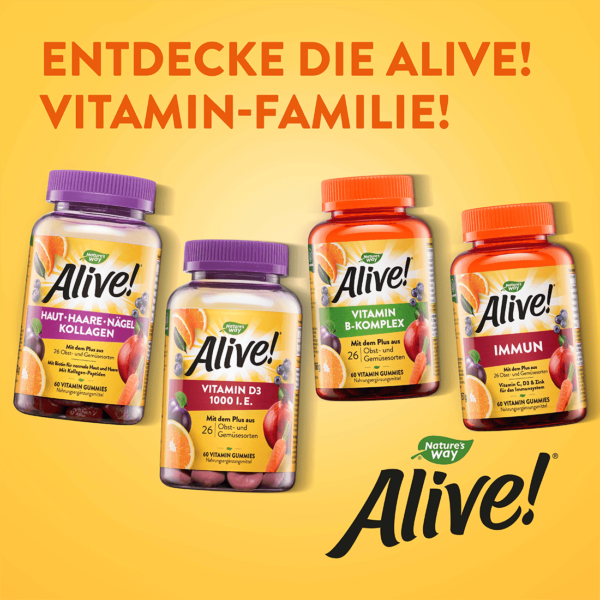 Weitere Alive! Produkte, Entdecke die Vitamin-Familie