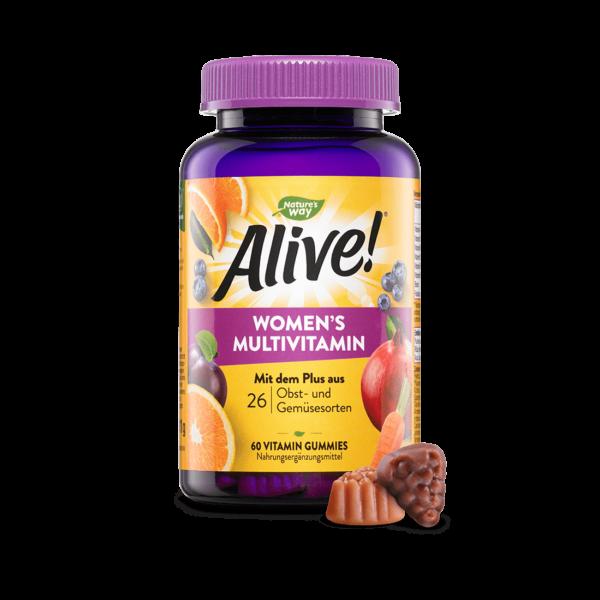 Alive! Women's Multivitamin Gummies, Produktabbildung