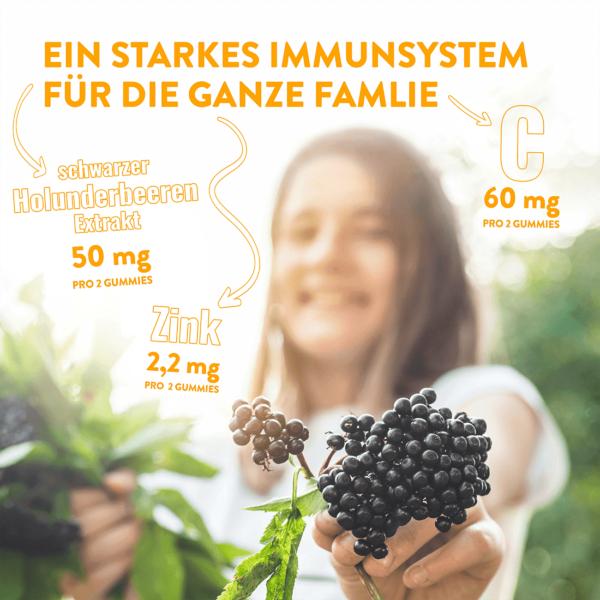 Nature's Way Sambucus Immun Kids & Co Gummies, für starkes Immunsystem für die ganze Familie