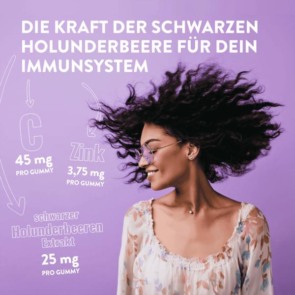 Nature's Way Sambucus Immun Gummies, Vorteile für dein Immunsystem